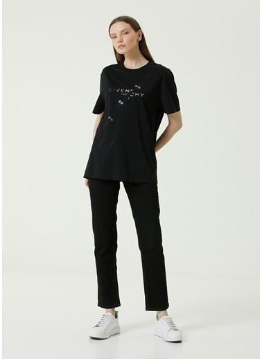 Givenchy Givenchy  Logo Baskılı Kuş Gözü Detaylı T-shirt 101611345 Siyah